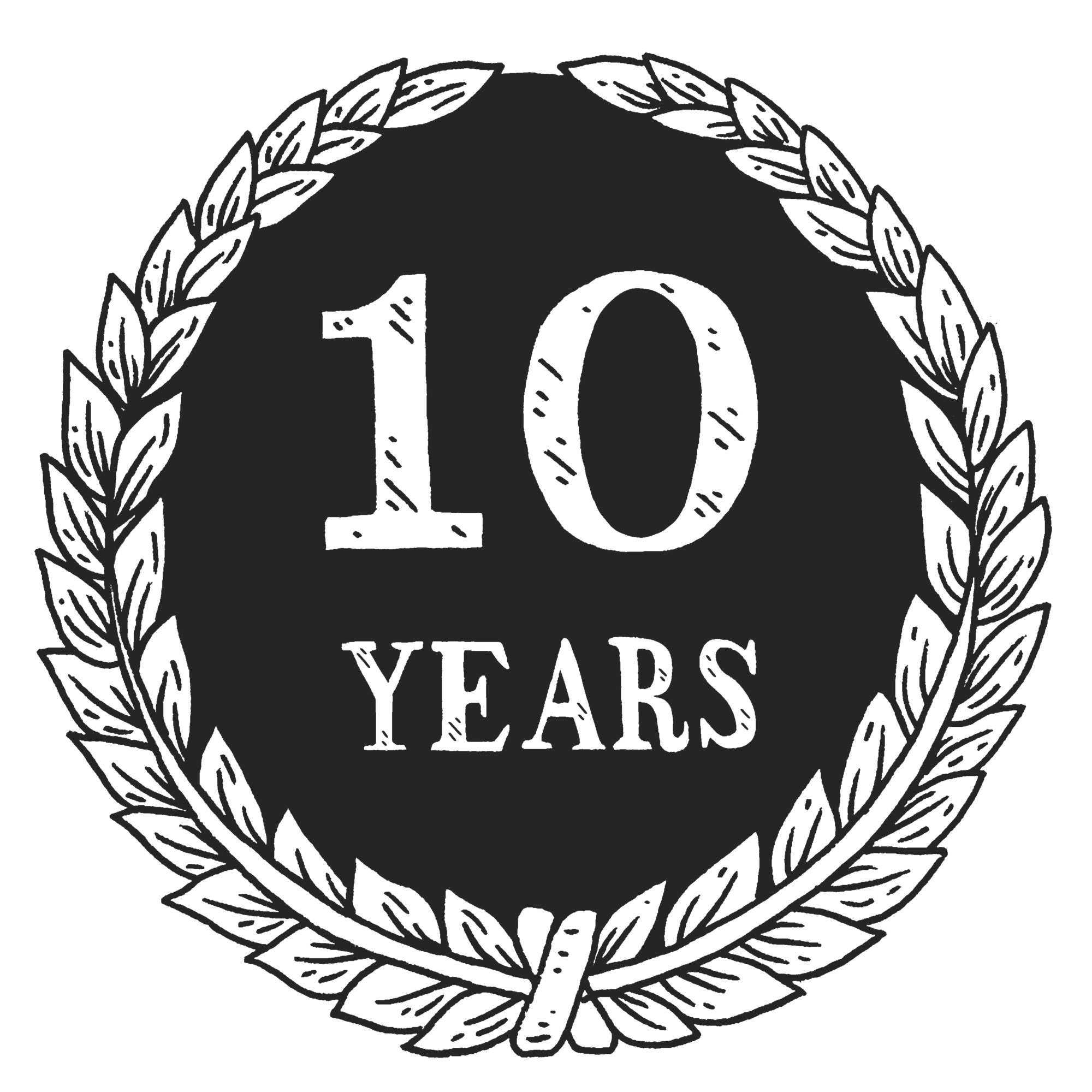 10-Years-With-Wreath